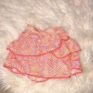 Red and orange skirt